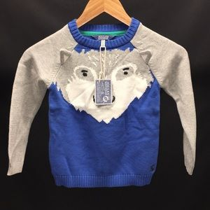 NEW Joules wolf sweater 4Y